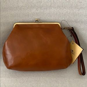 Patricia Nash Wristlet pouch TAN color